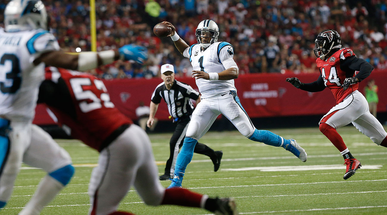 Cam Newton's 188 total yards (142 passing, 46 rushing) was his lowest output since Week 4.