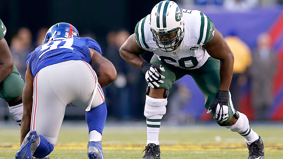 """New York Jets O-lineman D'Brickashaw Ferguson offers his thoughts on the film """"Concussion"""""""