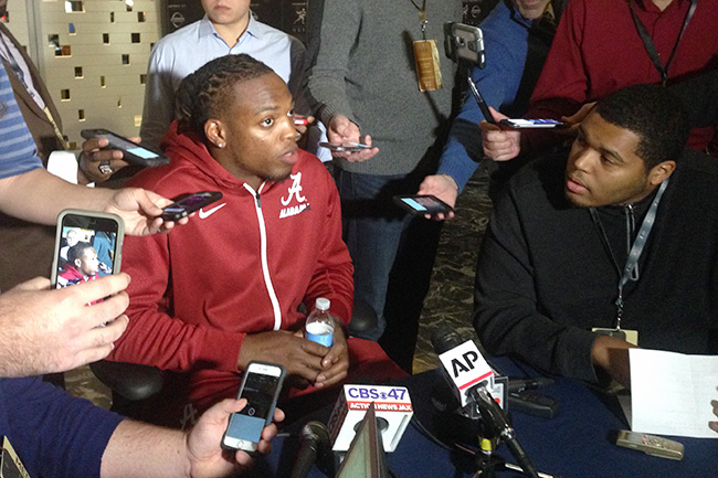 He got plenty of questions about his NFL future, but Henry kept the focus on Alabama's playoff run.
