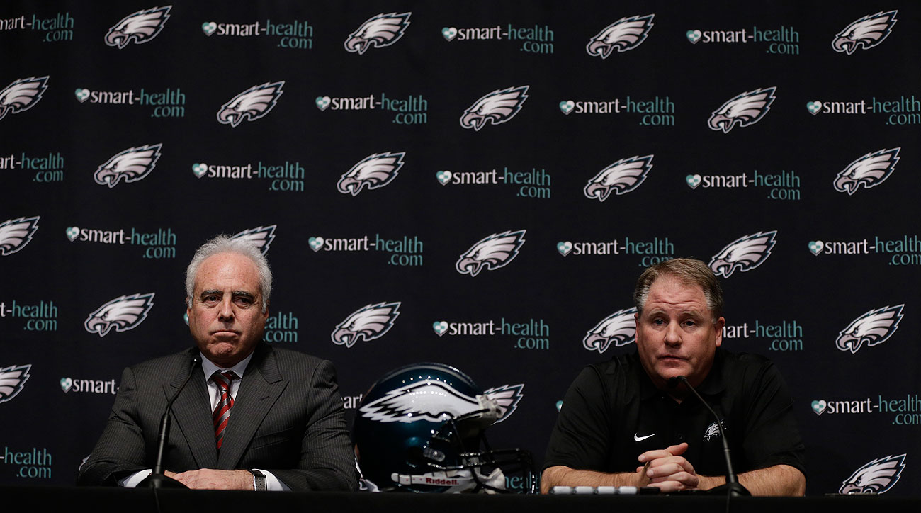 "After hiring Kelly in January 2013, Eagles owner Jeffrey Lurie said, ""He motivates his team with his actions as well as his words."""