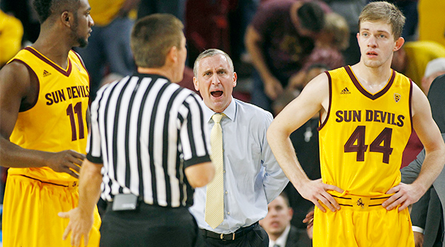 Arizona State Bobby Hurley ejected video
