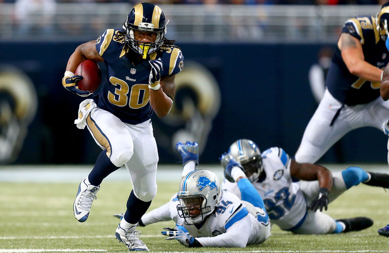 Gurley finished third in the NFL with 1,106 rushing yards despite only playing 13 games.