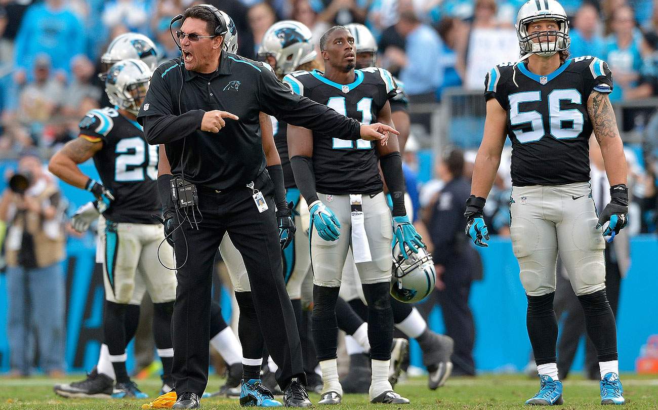 Rivera led the Panthers to a 15-1 mark and the top seed in NFC playoffs.