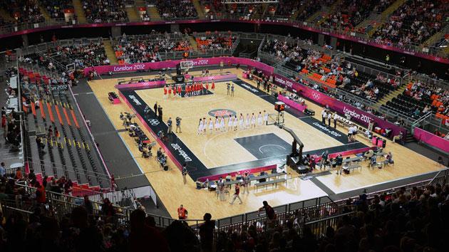 london 2012 basketball court olympics