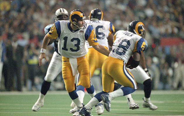 st louis rams greatest show turf marshall faulk kurt warner