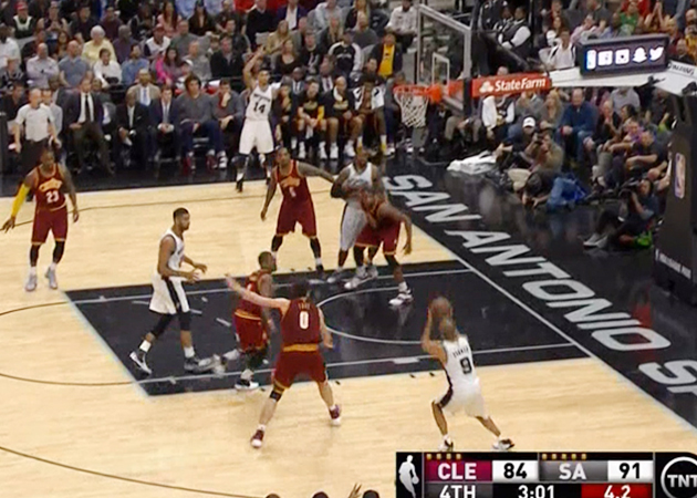 Cavaliers Spurs Kevin Love defense