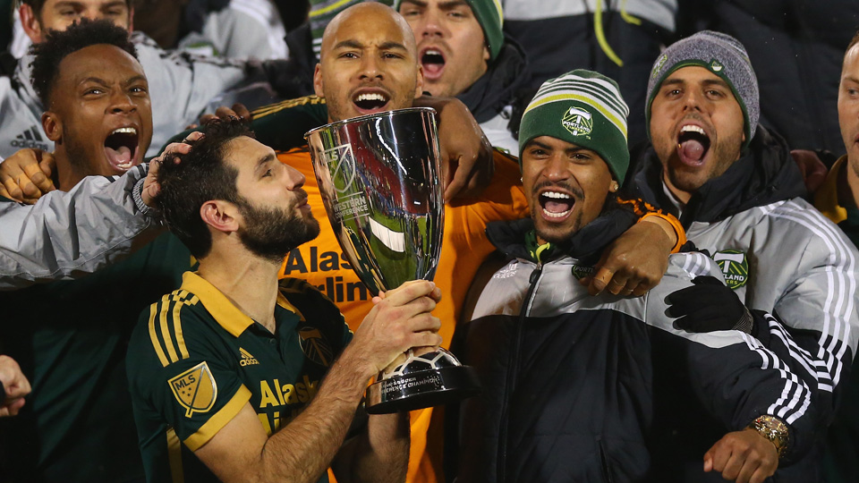 Diego Valeri of the MLS Cup champion Portland Timbers