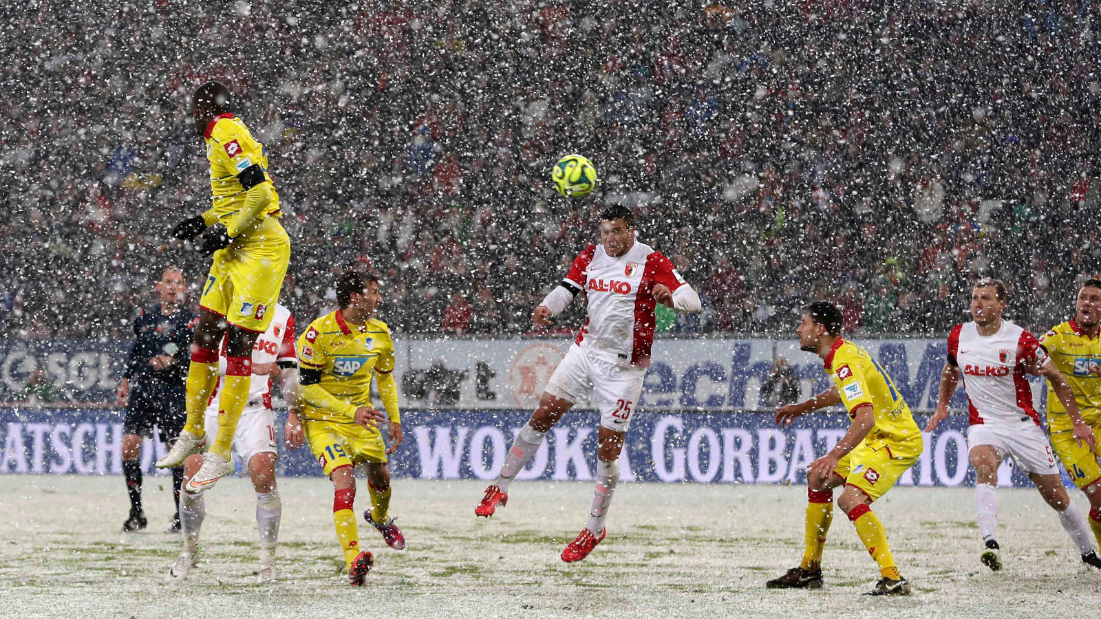 Augsburg vs. Hoffenheim in Germany, February 2015