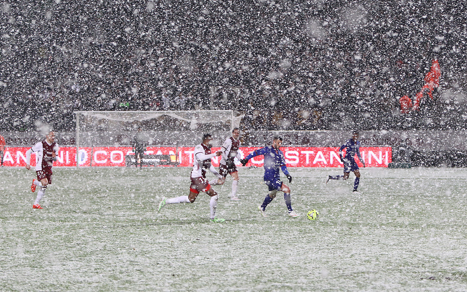 French clubs Metz and Nice in January 2015.