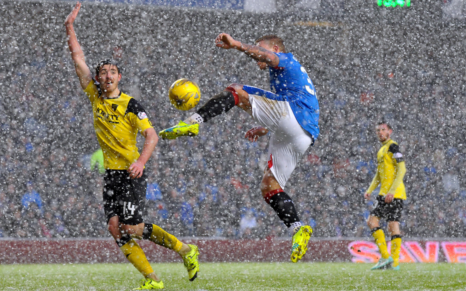 Rangers vs. Livingston in Scotland, January 2016.