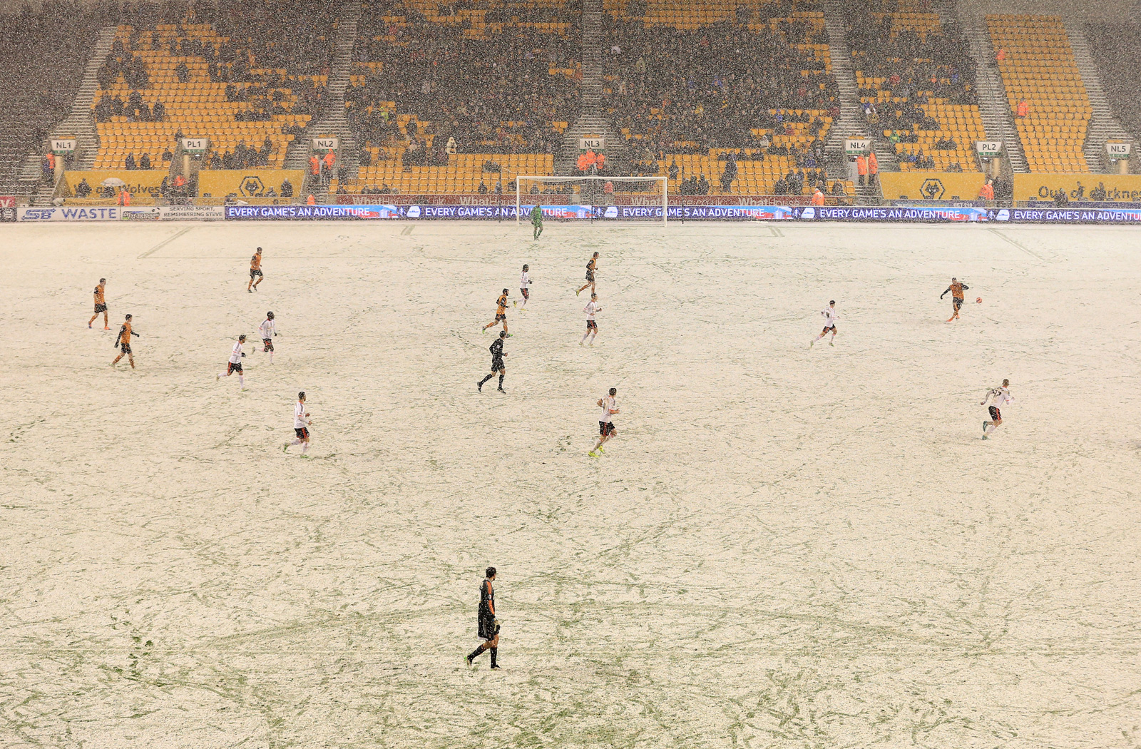 Wolverhampton vs. Fulham in an FA Cup third-round replay in 2015.