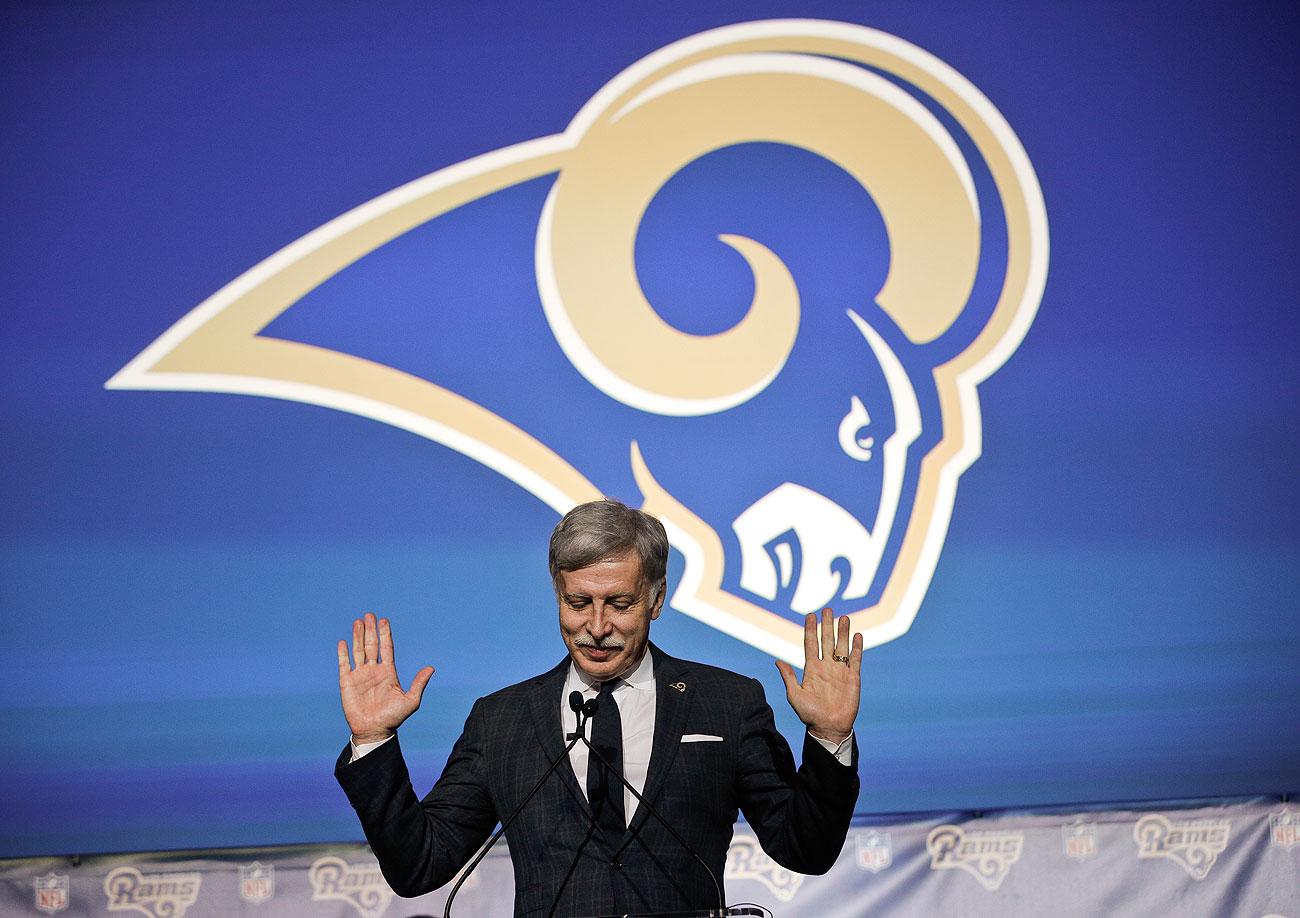Owner Stan Kroenke is bringing the Rams back to Los Angeles, which last had an NFL team in 1994.