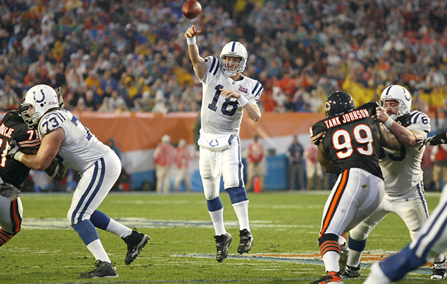 peyton manning indianapolis colts chicago bears super bowl