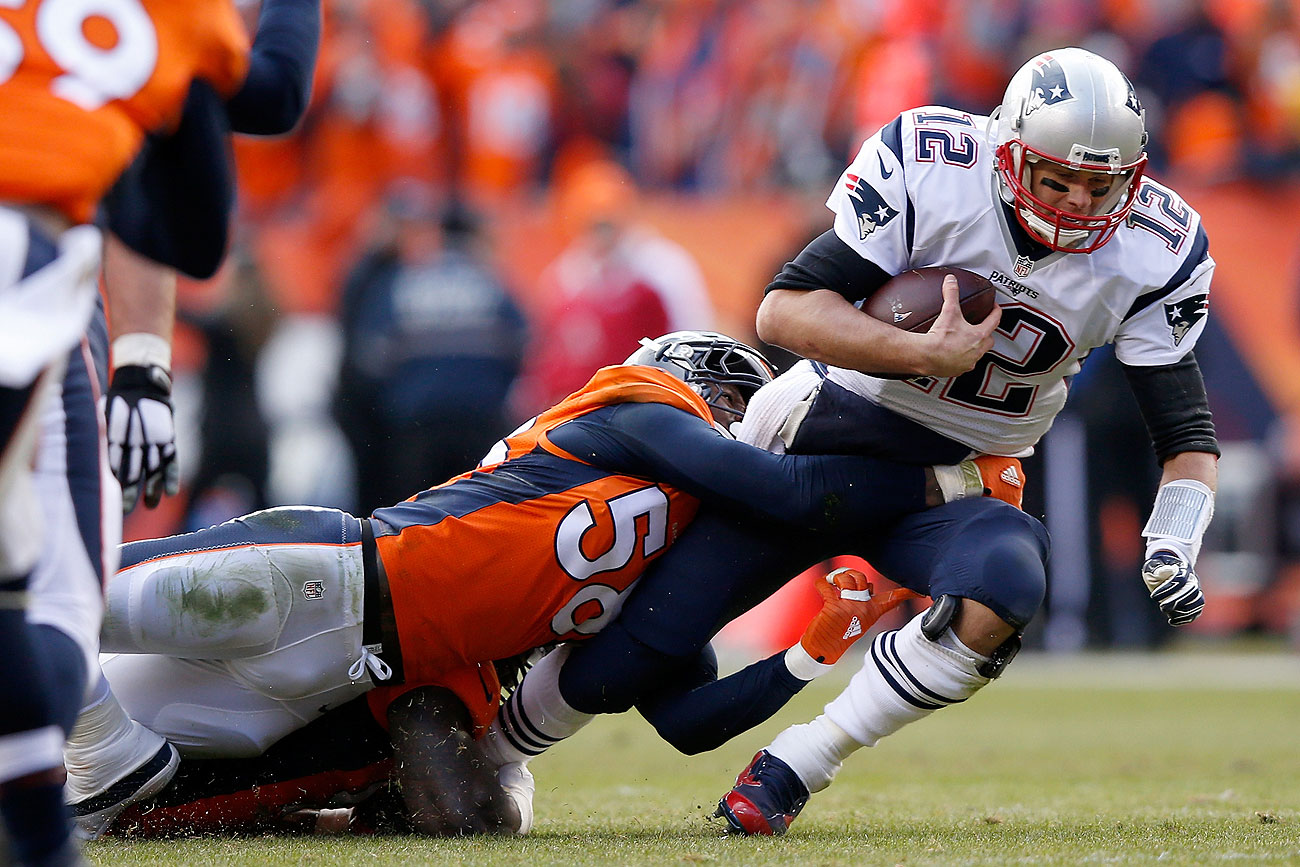 Von Miller and the Broncos spent most of Sunday knocking down Tom Brady.
