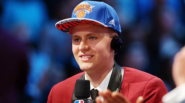 New York Knicks Kristaps Porzingis 2015 NBA draft