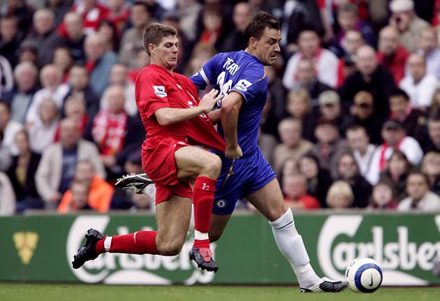 Steven Gerrard and John Terry facing off in 2005