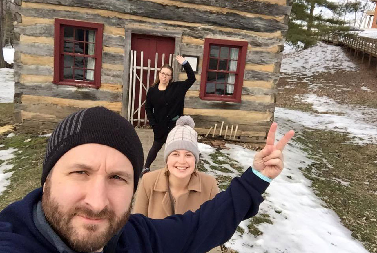 John DePetro, Emily Kaplan and Kalyn Kahler show off The MMQB's road trip accommodations.