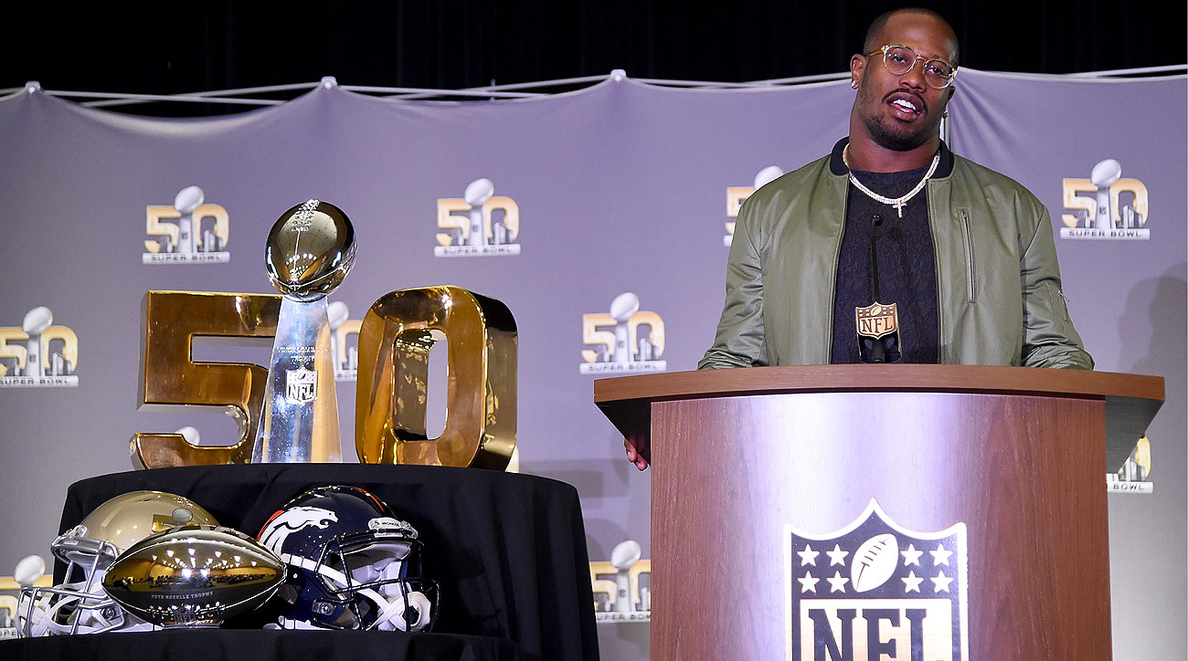 Von Miller became the fourth linebacker to be named Super Bowl MVP, joining Chuck Howley, Ray Lewis and Malcom Smith.