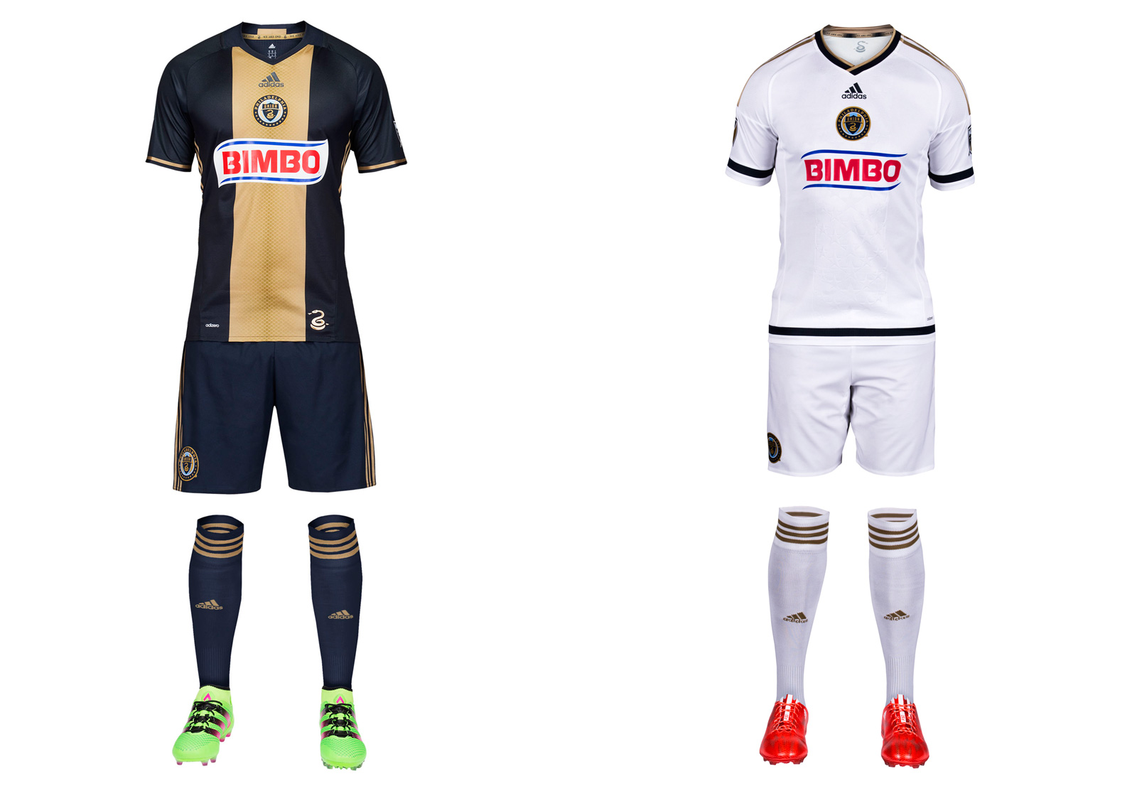 The Union's home uniform is a modern classic, apart from a garish sponsor logo that looks pasted on instead of integrated with the rest of the jersey. This year's new primary kit features a lighter gold down the middle, an understated snakeskin pattern (taken from the serpent in the club logo) and the departure of the pinstripes used in 2014-15. It's as classy and distinctive a set as you'll find. If only Bimbo could cooperate. Meanwhile, we're stuck with the regrettable, lazy away kit for one more season.