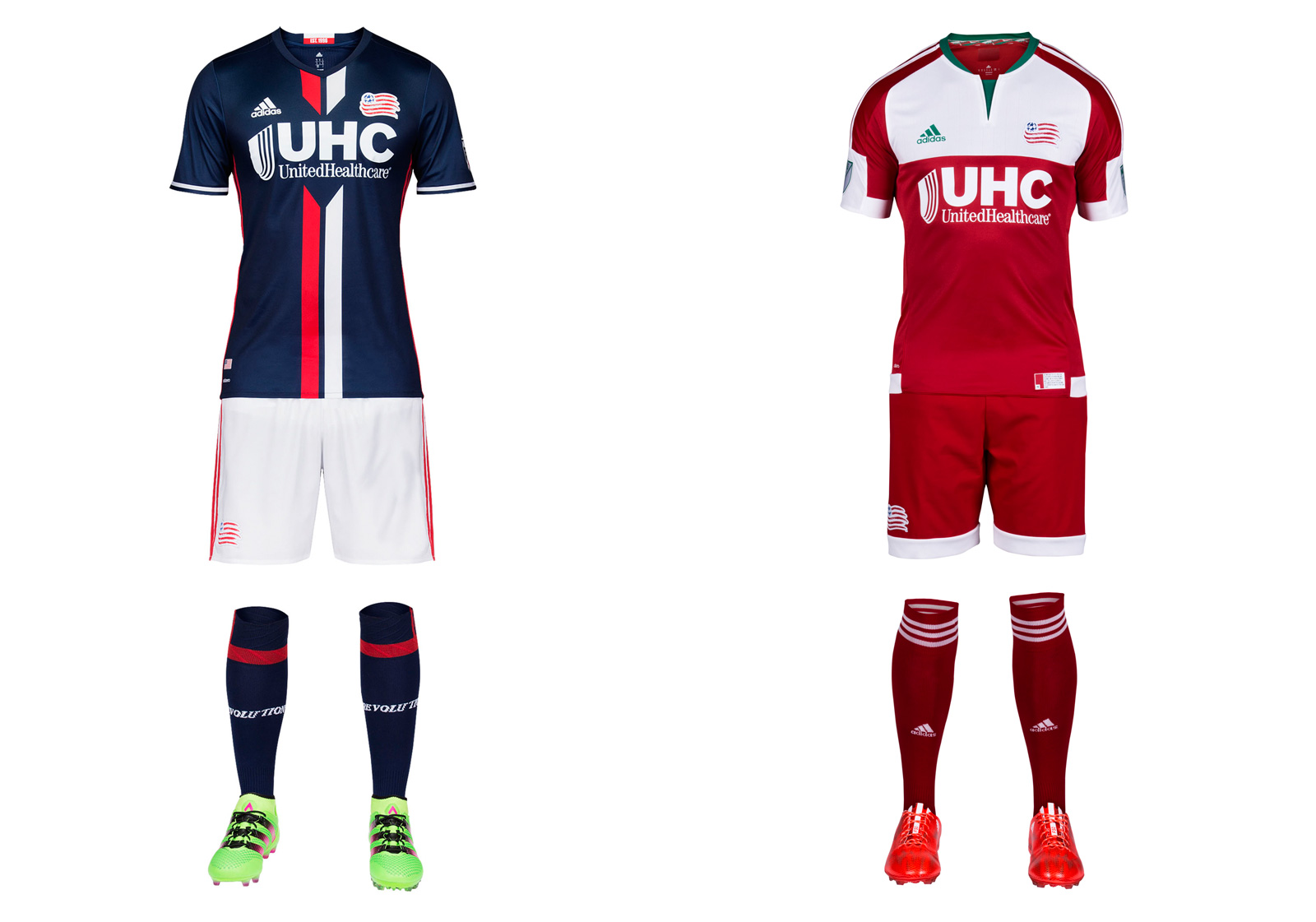 New England Revolution 2016 MLS uniforms