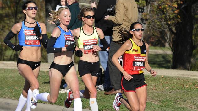 womens lead pack us olympic marathon trials 2