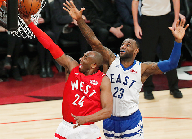 Kobe Bryant LeBron James NBA All-Star Game