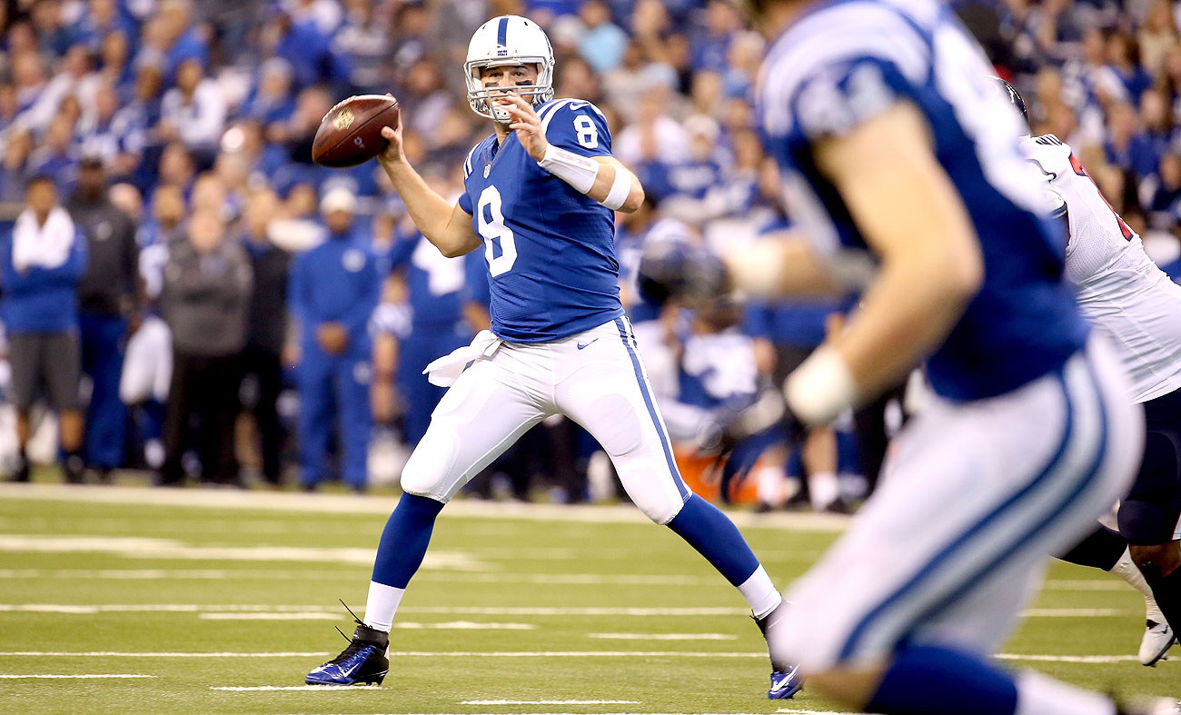 Backup quarterback Matt Hasselbeck threw nine touchdown passes and five interceptions in eight starts for the Colts in 2015.