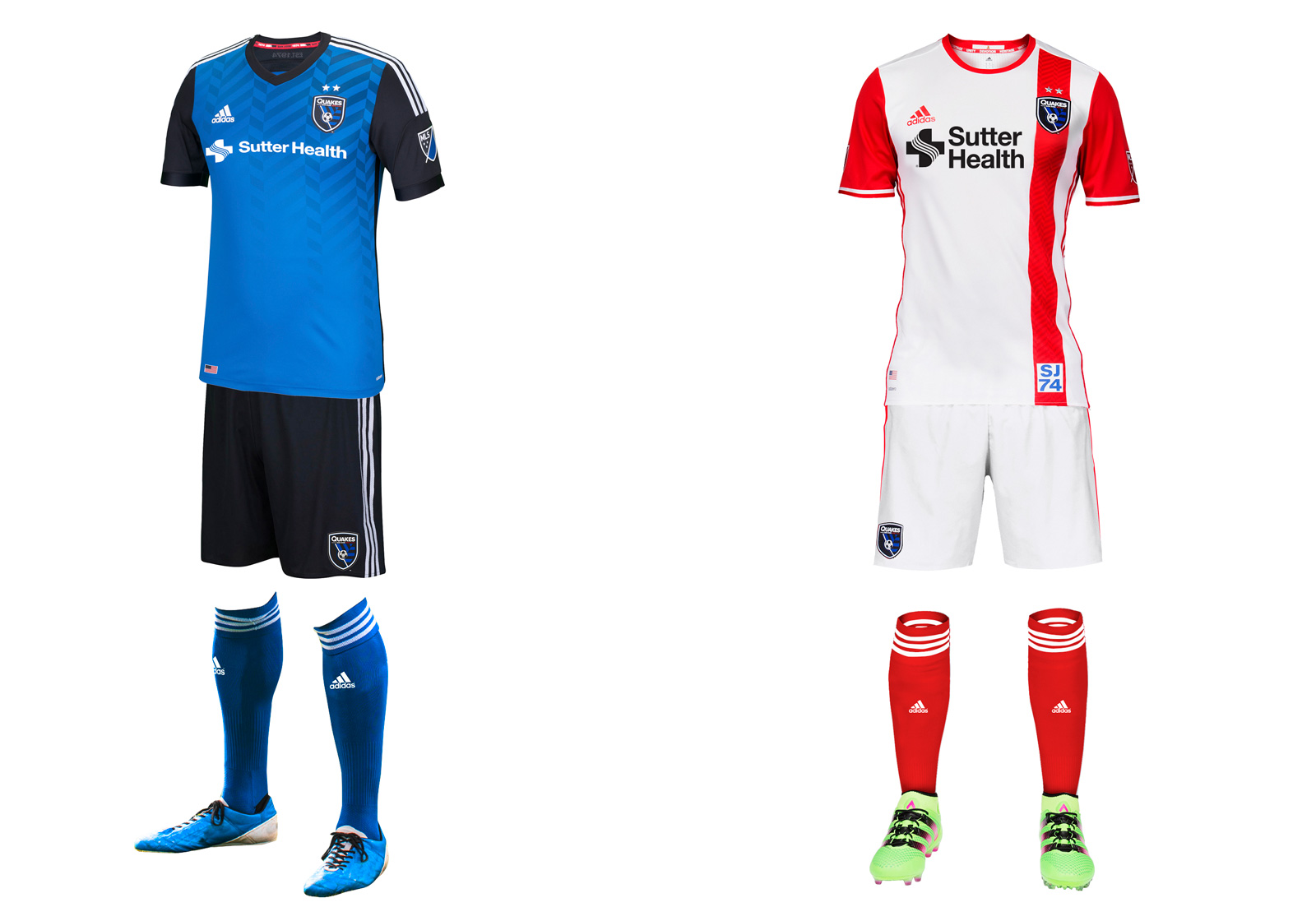 San Jose Earthquakes 2016 MLS uniforms