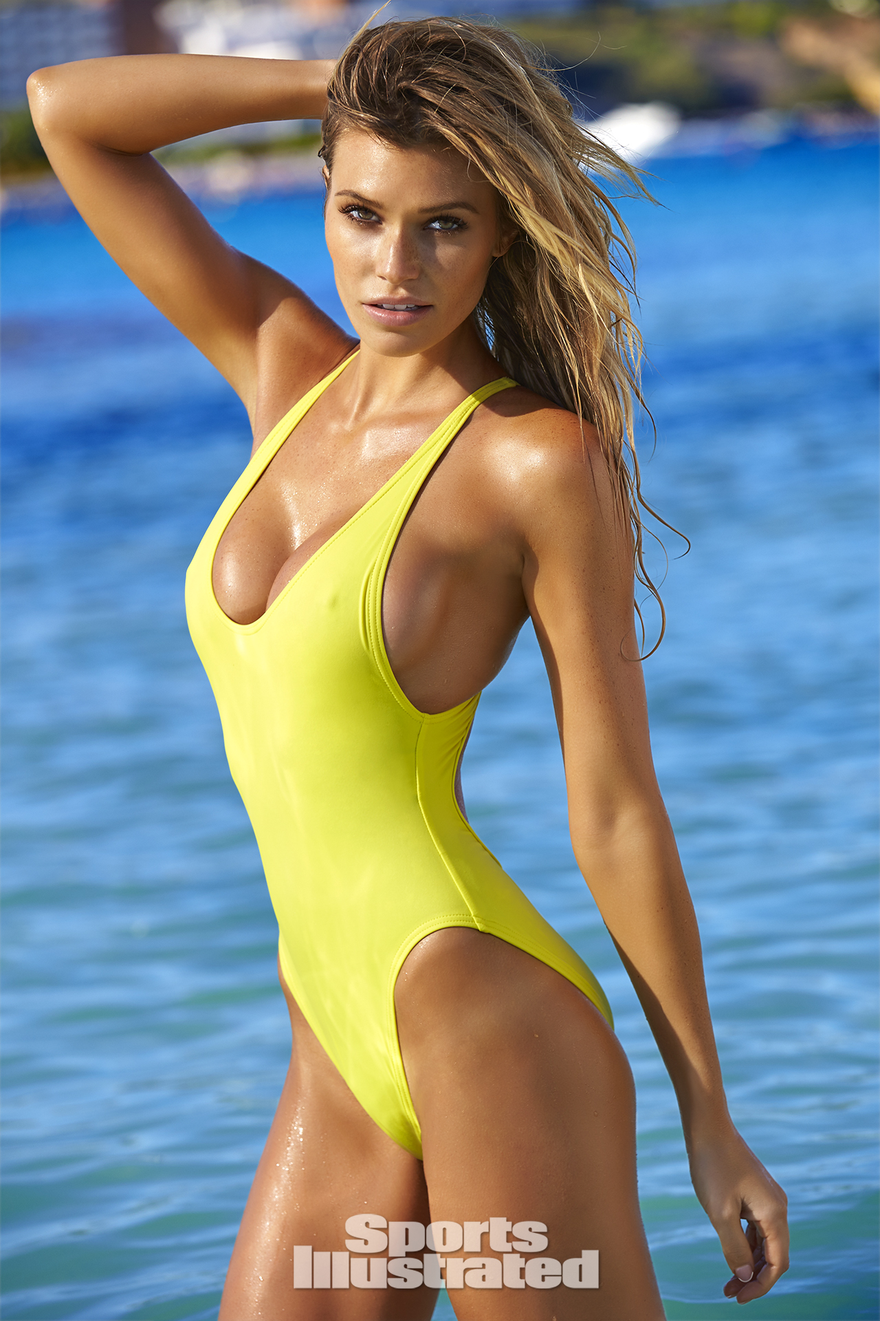 Samantha Hoopes was photographed by Ben Watts in Malta. Swimsuit by Proenza Schouler.