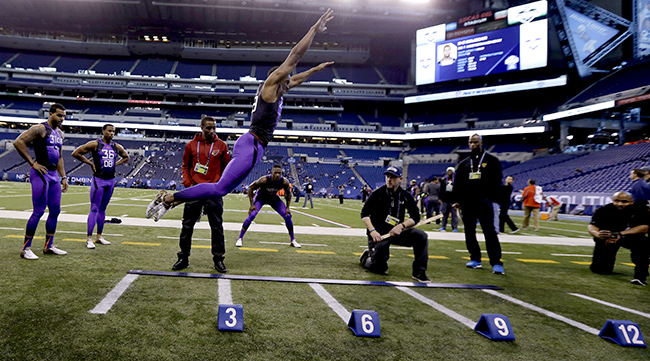 Byron Jones broad jump