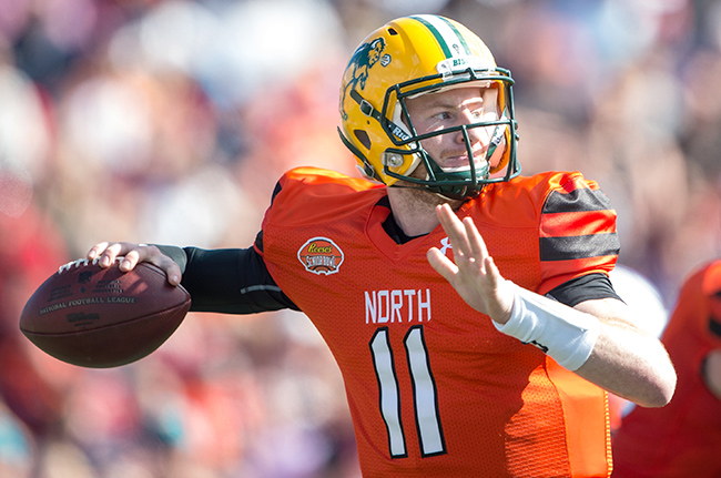 North Dakota State QB Carson Wentz has a chance to build off the momentum from Senior Bowl week.