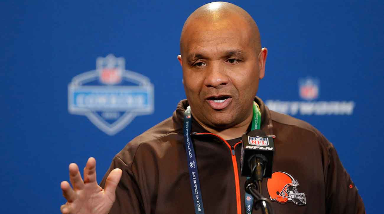 Hue Jackson and the Browns hold the No. 2 overall pick in the NFL draft.