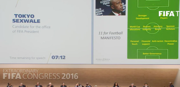 Tokyo Sexwale withdrew from the FIFA election