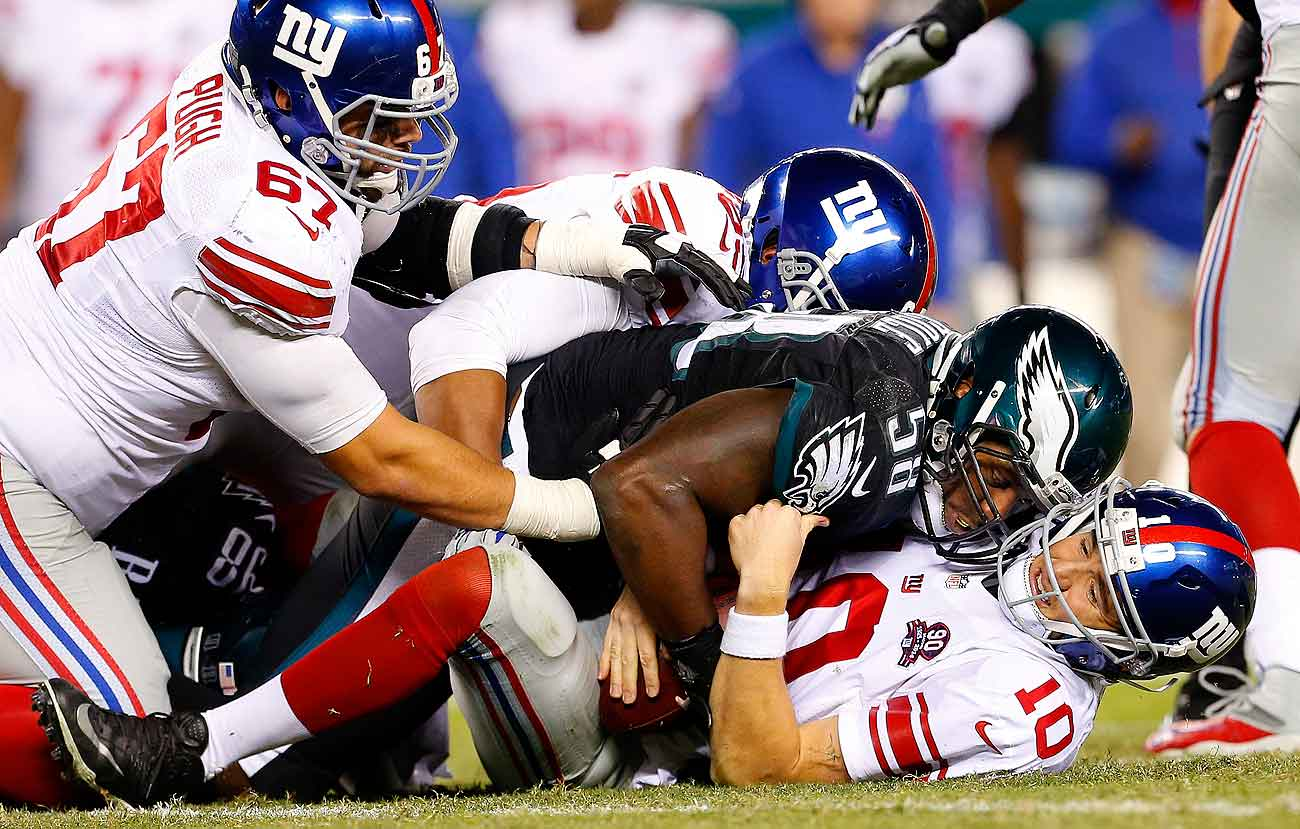 Eli Manning and the Giants have suffered three straight losing seasons, and missed the past four playoffs, since winning Super Bowl 46.