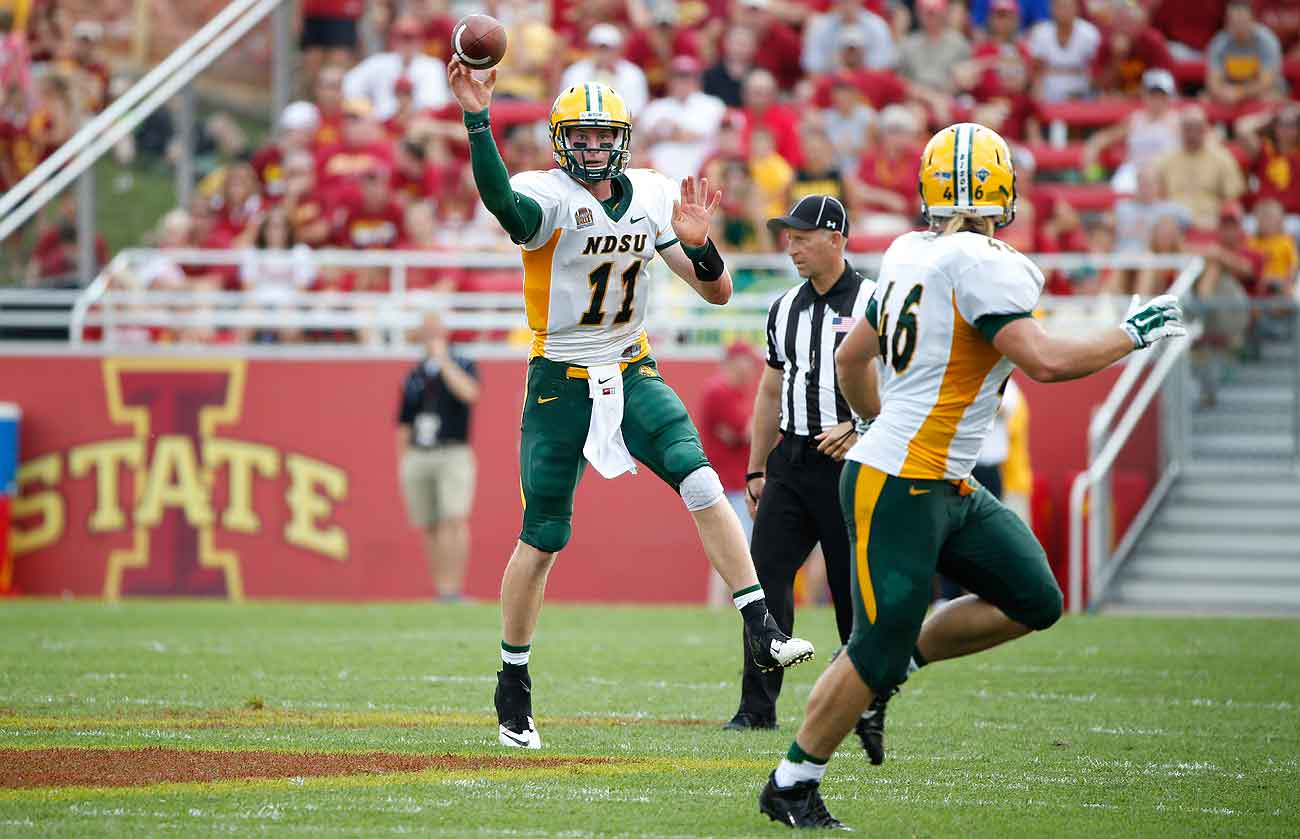 Carson Wentz helped lead North Dakota State to an FCS national title in 2015.