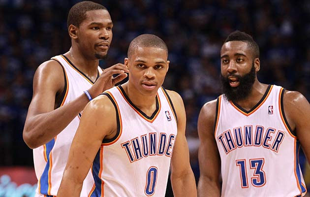 Kevin Durant, Russell Westbrook, James Harden