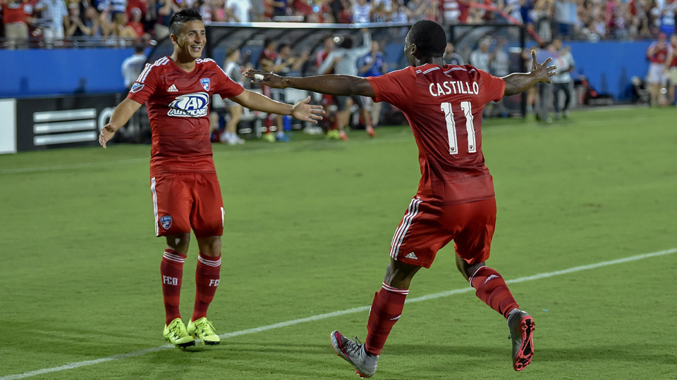 Mauro Diaz and Fabian Castillo connected for FC Dallas's first goal of 2016