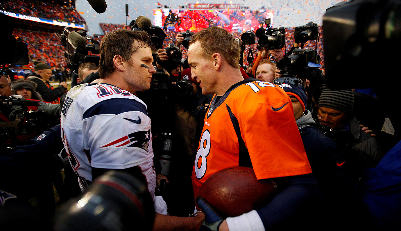 It wasn't certain at the time, but this become the final chapter in the rivalry, as Manning would go on to retire less than two months later. The Broncos led for the entire game, withstanding a late rally from the Patriots to hold on in Denver. Manning threw for two touchdowns and 176 yards in the win. (Brady 11, Manning 6)