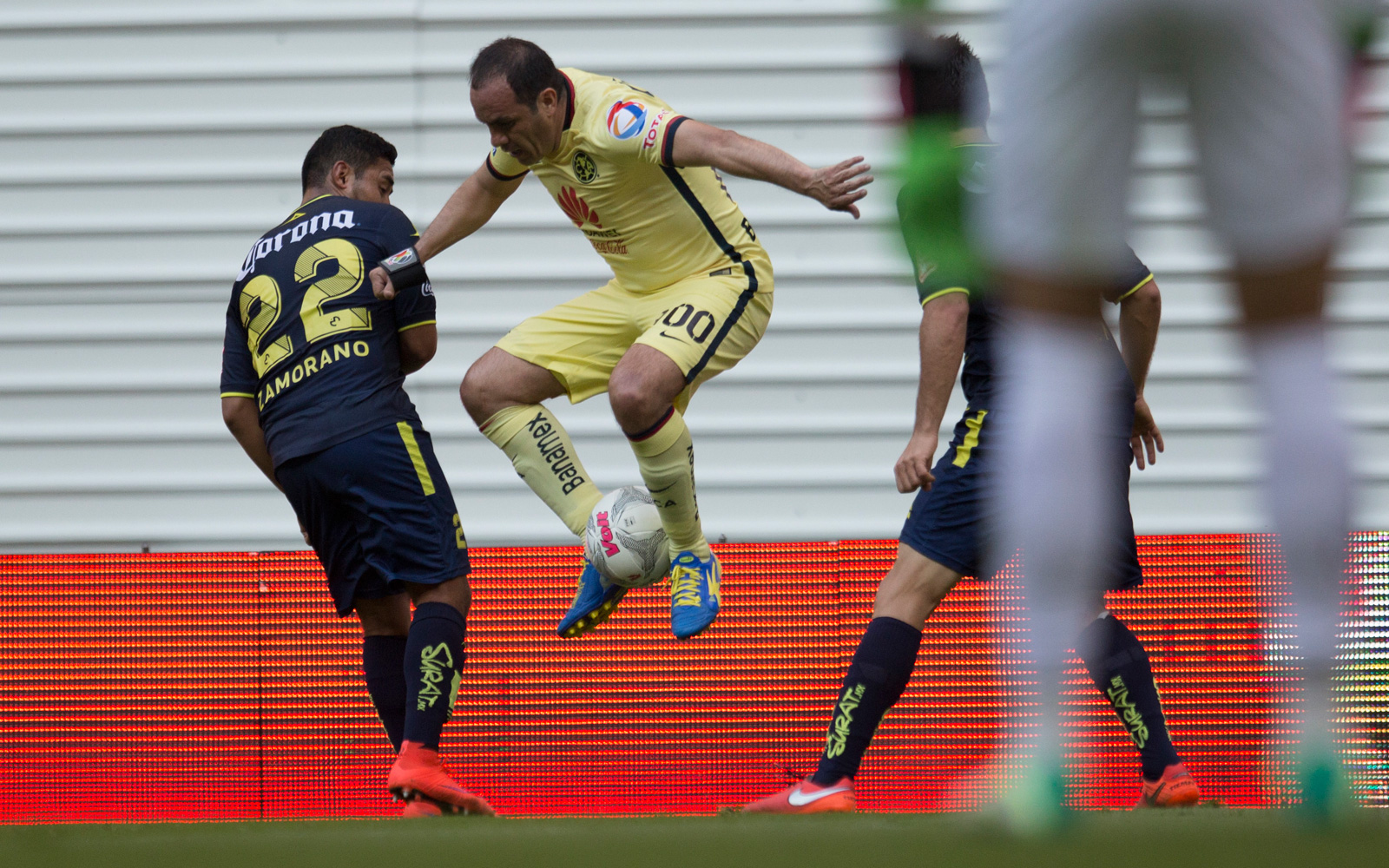 "Cuauhtemoc Blanco received a farewell from Club America, playing against Morelia in a Liga MX match–and performing his trademark ""Cuauhteminha""–on March 5, 2016."
