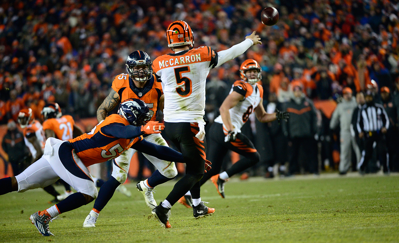 The Broncos got an up-close-and-personal look at potential trade target A.J. McCarron in a late-December meeting against the Bengals.