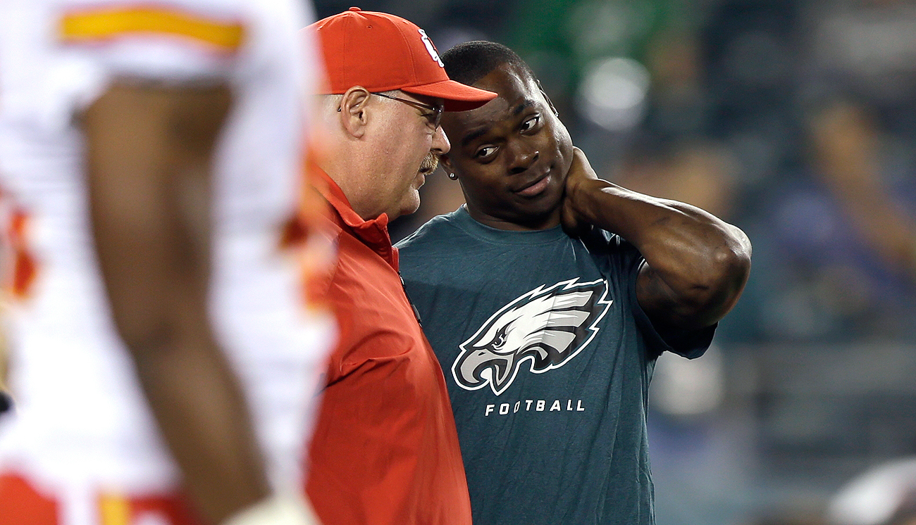 Andy Reid and Jeremy Maclin's relationship dates back to their days in Philadelphia.