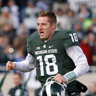 Connor Cook was 5-2 against Top 10 opponents at Michigan State.