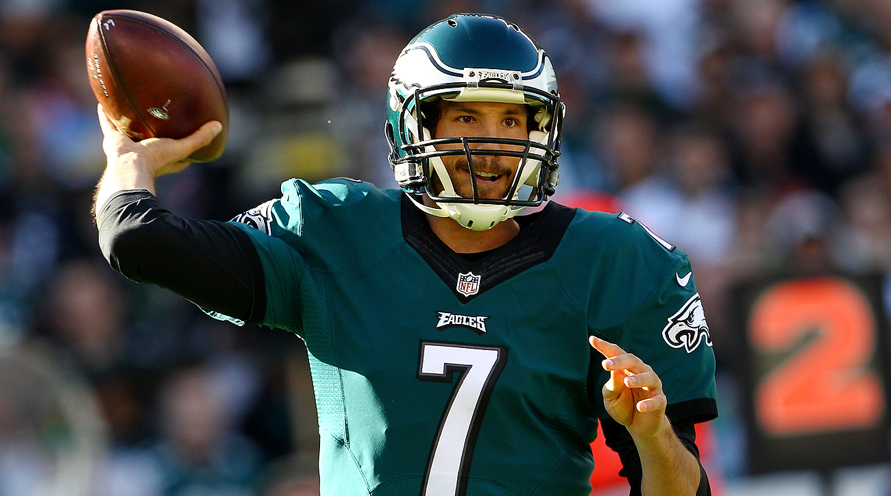Sam Bradford inked a two-year deal with the Eagles but will still face competition at the quarterback position.