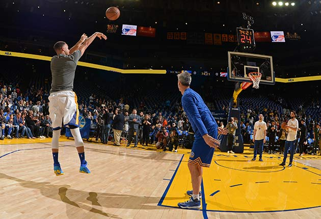 Stephen Curry and Bruce Fraser