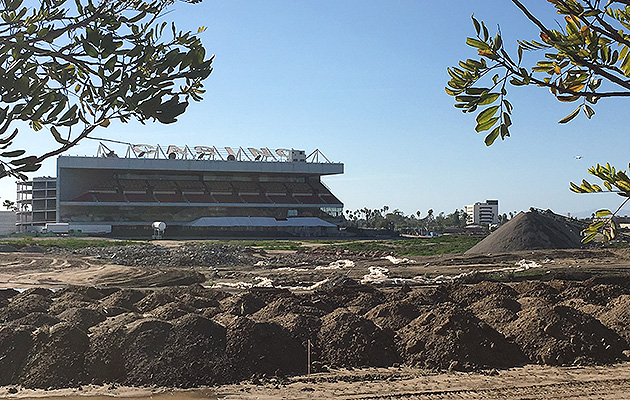 Site of the Hollywood Park Racetrack in Inglewood, where the new Rams stadium is scheduled to open in 2019.