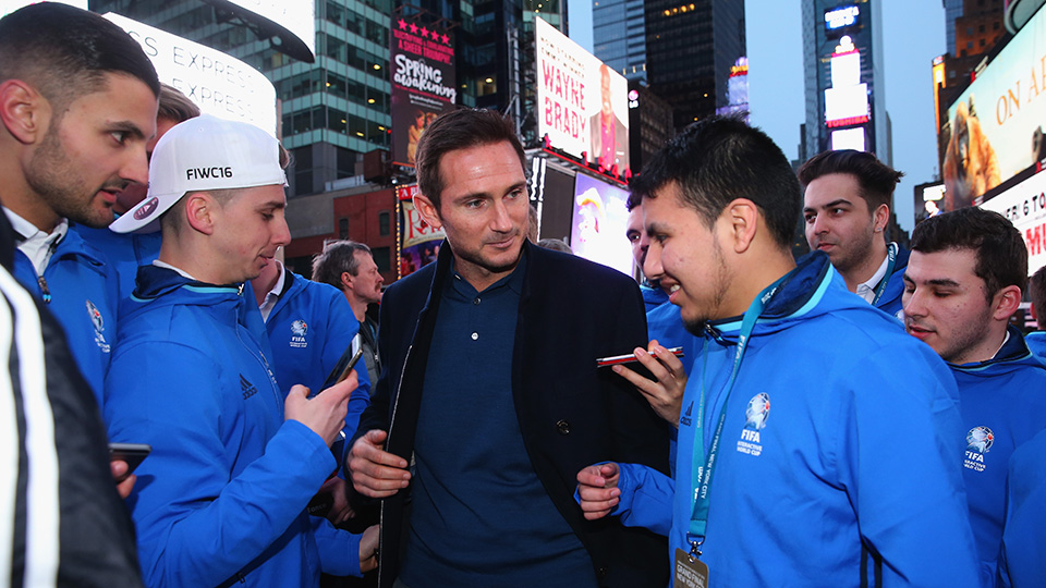 FIFA Interactive World Cup competitors meet New York City FC midfielder Frank Lampard.