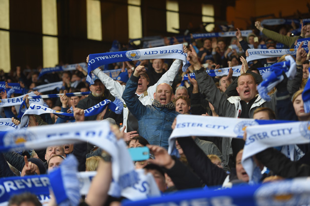 Leicester City fans at the Foxes' win over Crystal Palace