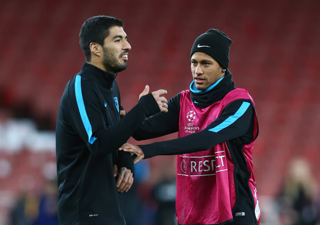 Luis Suarez and Neymar will face off in World Cup qualifying