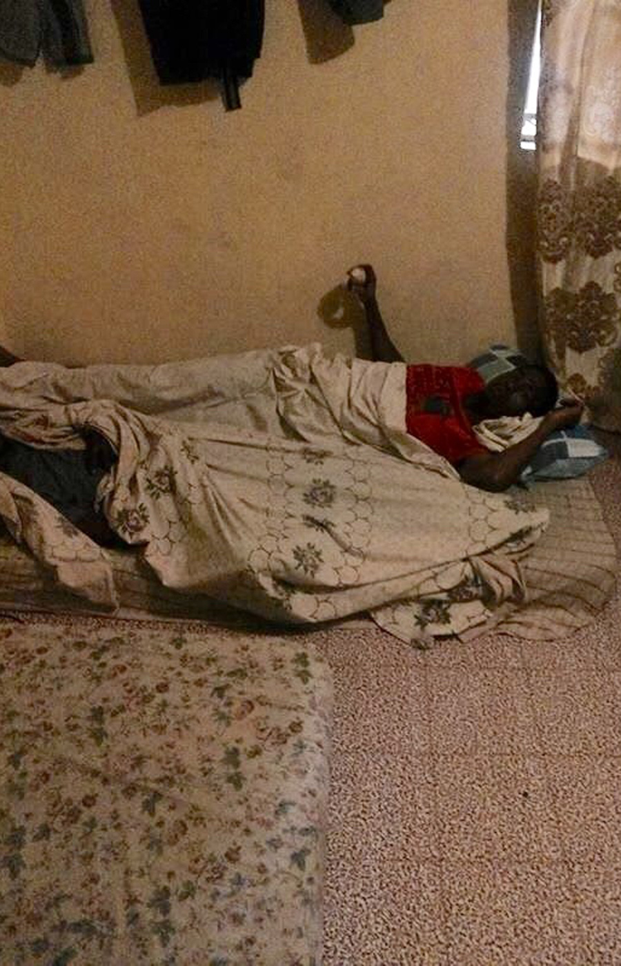 Sa'ad Hussein in Nairobi earlier in 2016, when his home was a mattress on the floor.