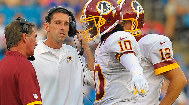 Mike Shanahan, Kyle Shanahan, Robert Griffin III and Kirk Cousins were together in Washington for just two seasons, 2012 and 2013.